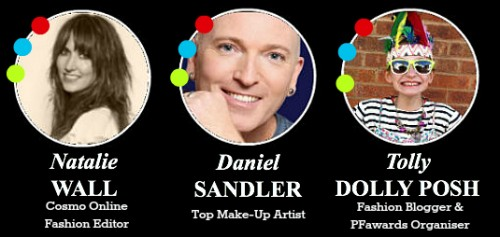 posh fashion awards judges natalie wall cosmopolitan daniel sandler mua tolly dolly posh youngest fashion blogger