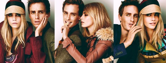 inspiration cara delevigne and eddie redmayne