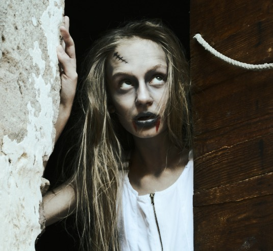 halloween fashion make-up ideas photo shoot