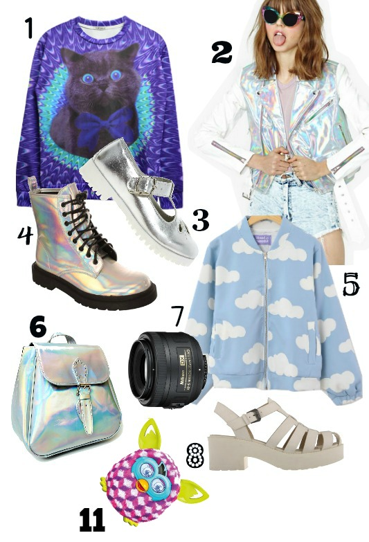 christmas wishlist asos sheinside furby holographic fashion ark