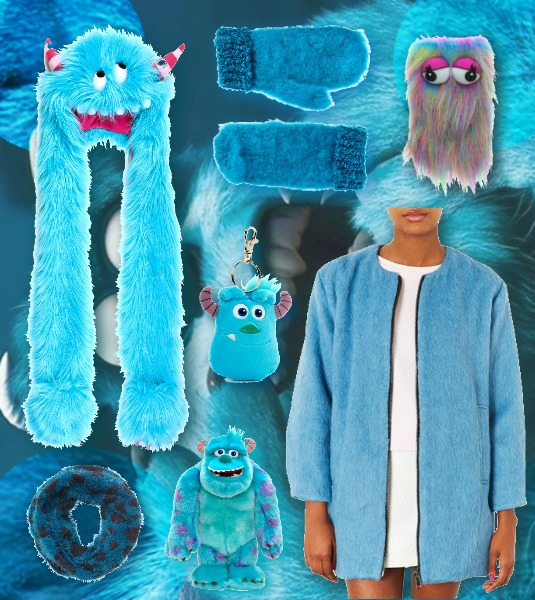Sulley Inspired Fashion Monsters Inc Blue Fur Celebrity Style Miley Cyrus Blue Fur Claire's Monsters Topshop ASOS