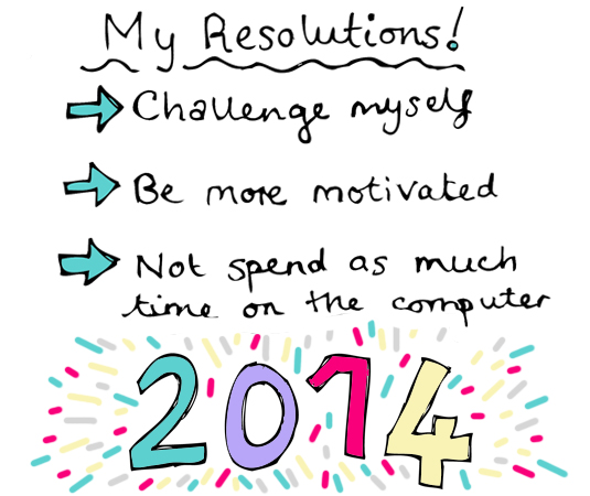 new year 2014 blog resolutions goals