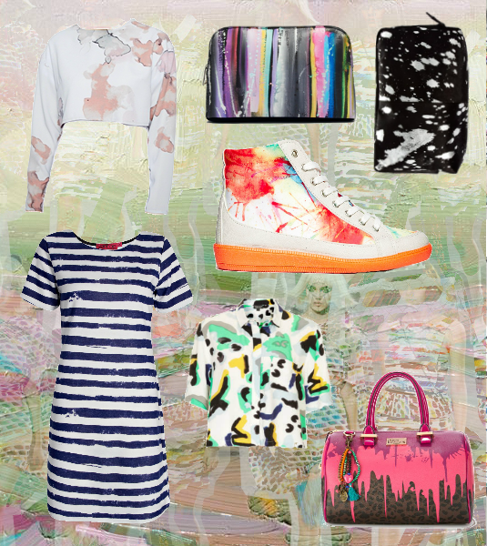 ss/14 trends paint splatters and strokes asos chanel ss14