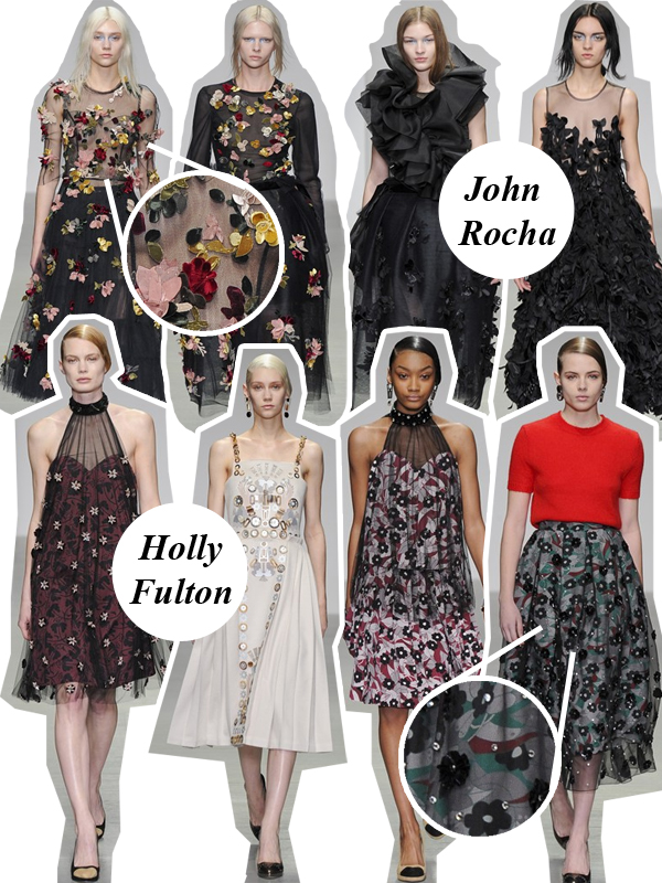 A-Z Fashion Guide: Appliqué LFW A/W 14/15 Holly Fulton John Rocha