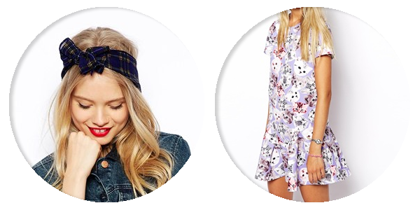asos saved items tartan bandanna lilac cat dress
