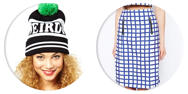 asos saved items lazy oaf check skirt