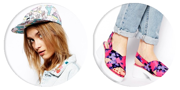 asos saved items lazy oaf cactus hat floral sandals