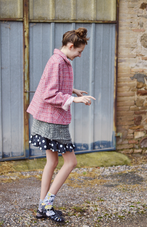 chanel a/w 14 outfit tweed