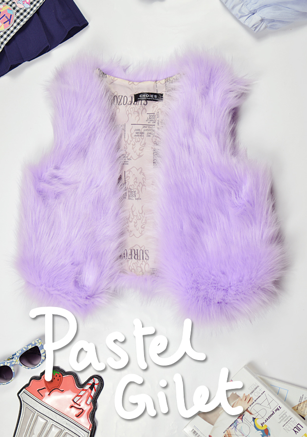 Changing With The Seasons Pastel Gilet Choies