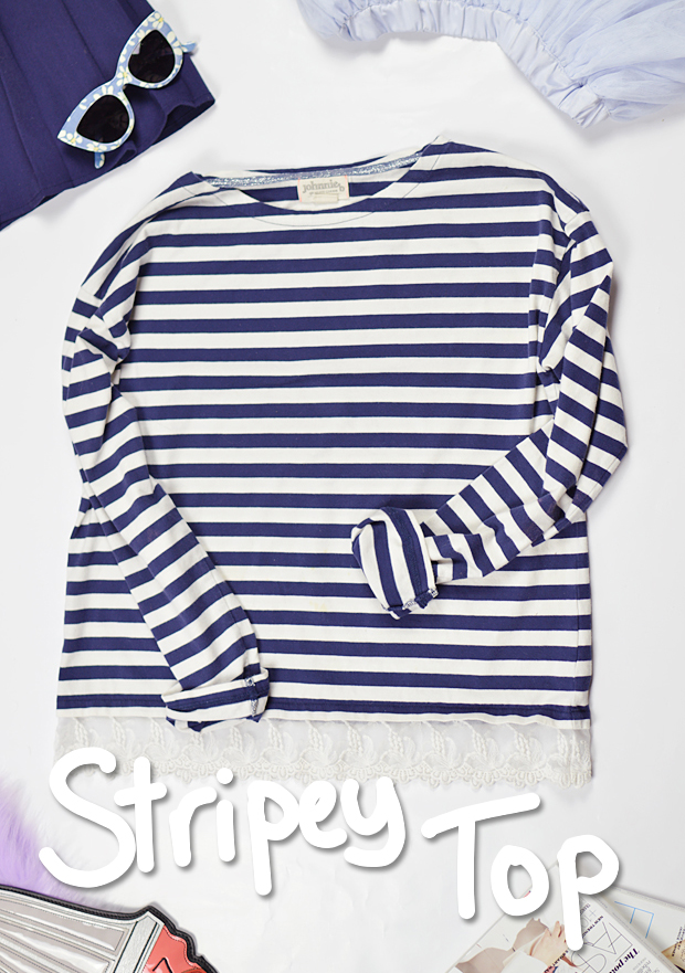 Changing With The Seasons Stripey Top Boden Johnnie B
