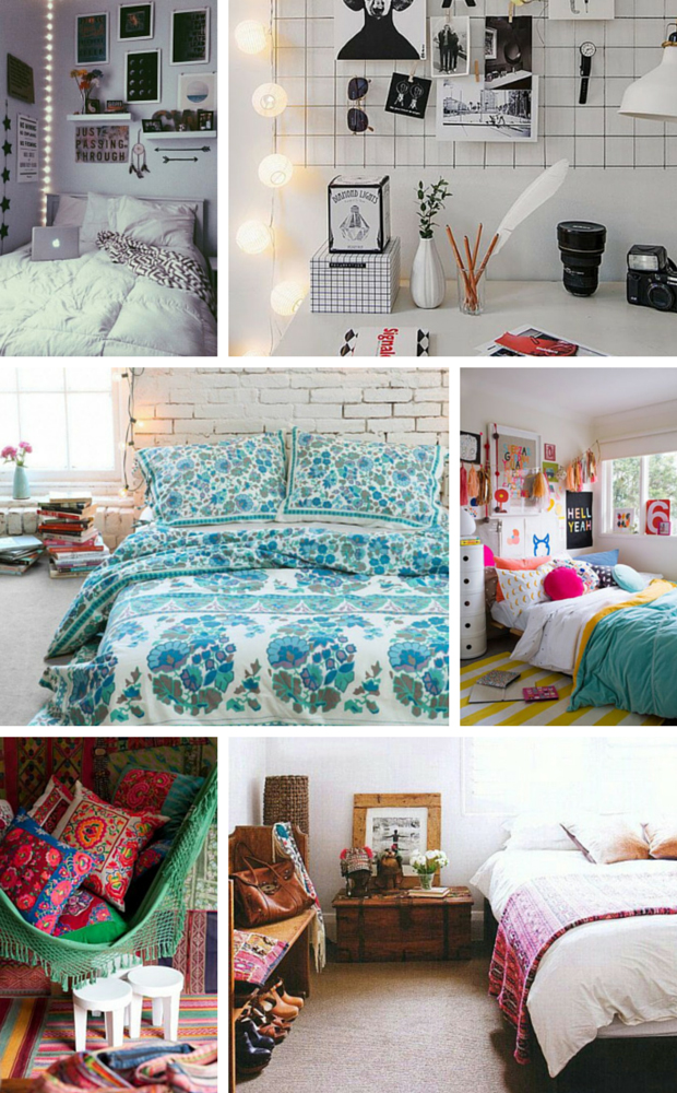 Bohemian Bedroom Ideas - Urban Outfitters, H&M, Society6