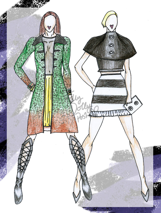Paris Fashion Week PFW Fashion Design Sketches
