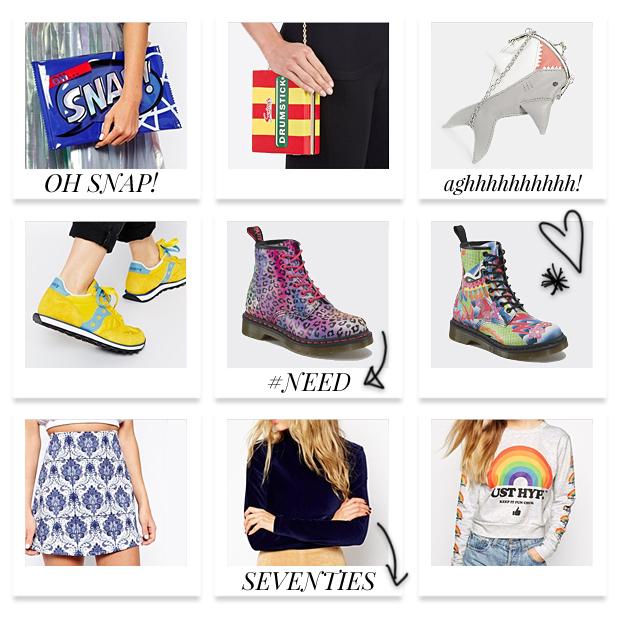 Spring Wishlist - ASOS, Dr Martens, Next, Novelty Bags