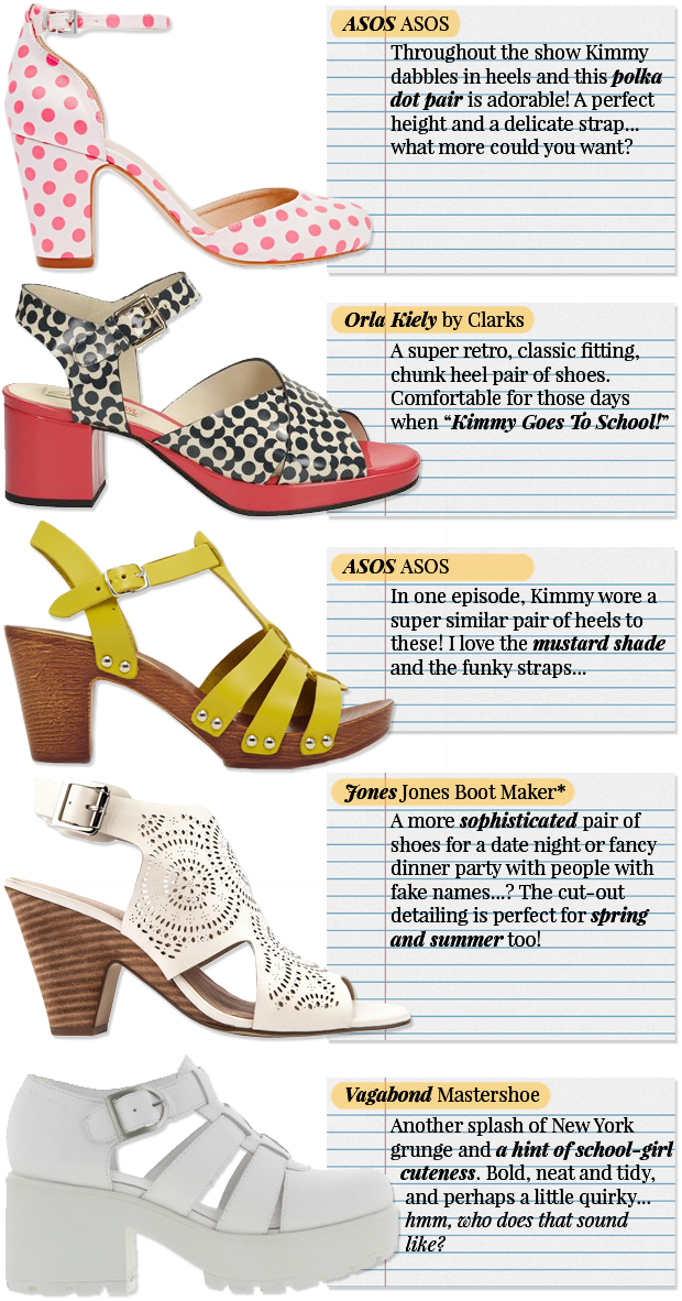 Kimmy Schmidt Shoes - Jones Boot Maker, ASOS, Dr Martens