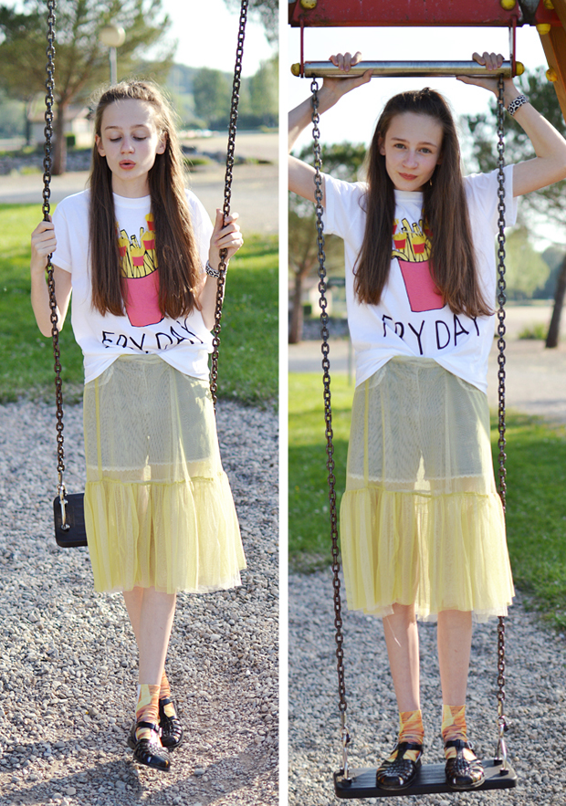Fast Food Fashion Inspired OOTD - Adolescent Clothing FRYDAY T-Shirt