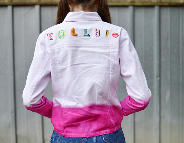 DIY Iron-on Patch Jacket & Dip Dye - Jennie Maizels - DYLON Dyes