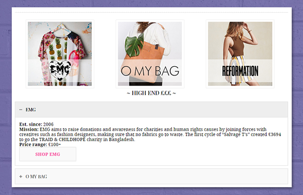 Ethical Directory For Fashion Brands - EMG, O MY BAG, Reformation