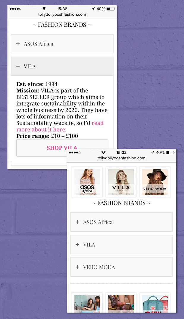 Ethical Directory For Fashion Brands - ASOS Africa, VILA, VERO MODA