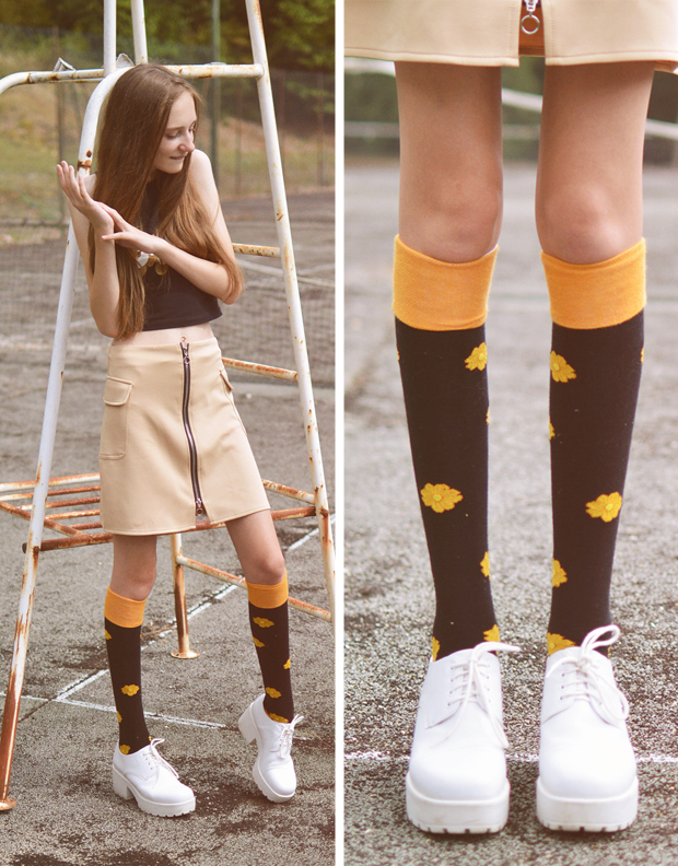 Mooi en Lief by Tolly Dolly Posh Socks Knee High - Homo Superior - David Bowie Inspired