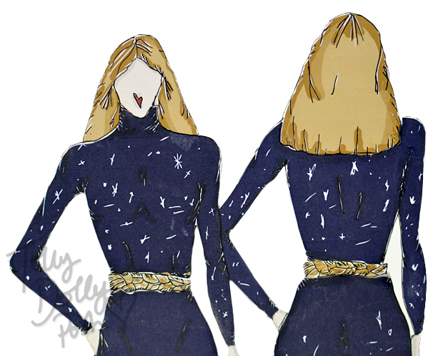 Space Inspired Fashion Designs - Teen Fashion Designer - Tolly Dolly Posh