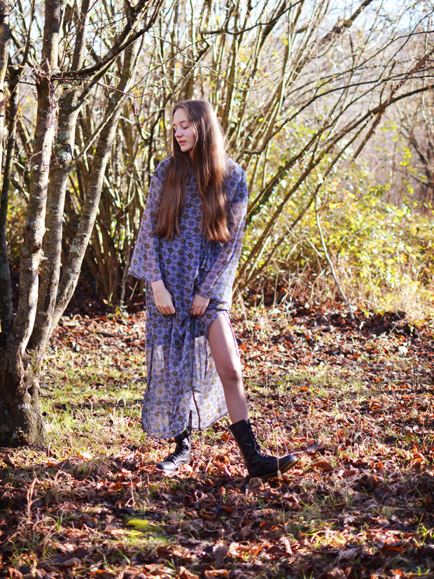 OOTD My Style Outfit Seventies Bohemian ASOS Dress 1B99 Dr Martens
