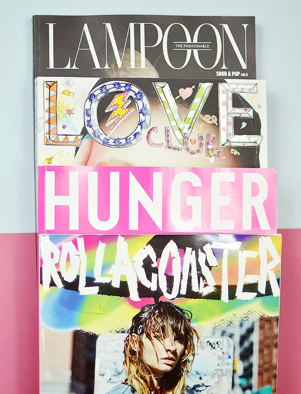 fashion magazines - the fashionable lampoon - love club - hunger - rollacoaster