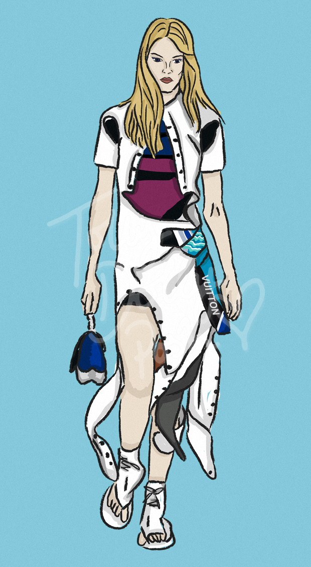 Resort Pre-Spring Summer 2017 Collections - Louis Vuitton - Fashion Illustrator