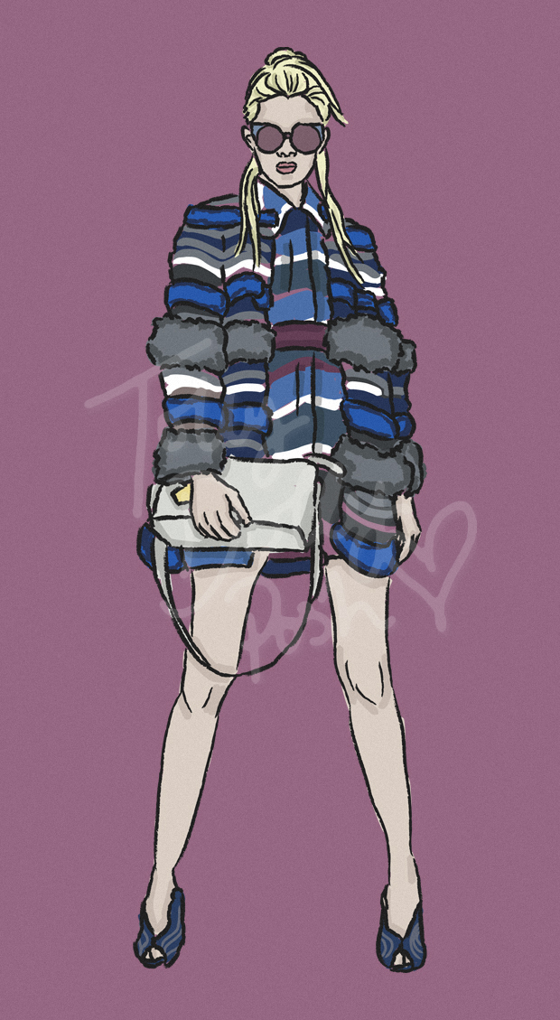 Resort Pre-Spring Summer 2017 Collections - Fendi - Fashion Illustrator