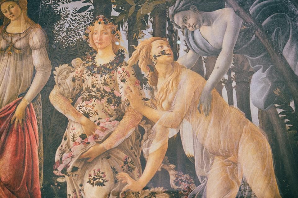 florence firenze italy gucci musuem uffizi gallery sandro botticelli primavera