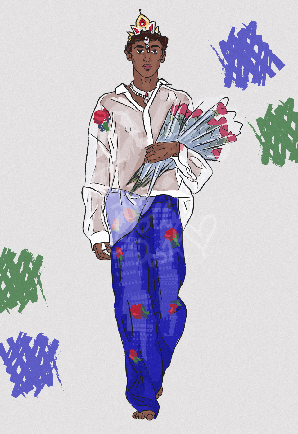 LFW Spring Summer 2017 ASHISH fashion illustrations
