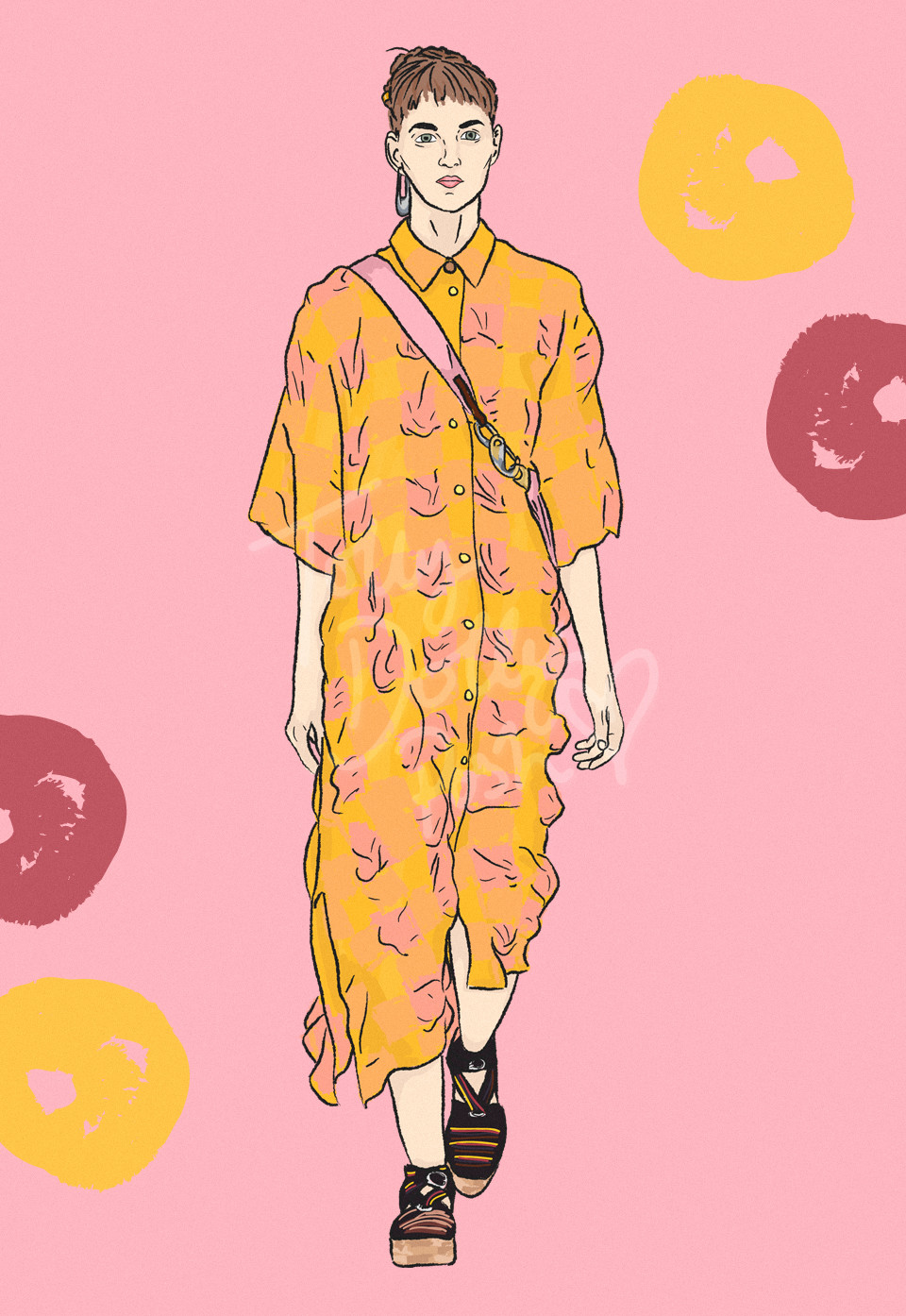 LFW Spring Summer 2017 Paul Smith illustrations