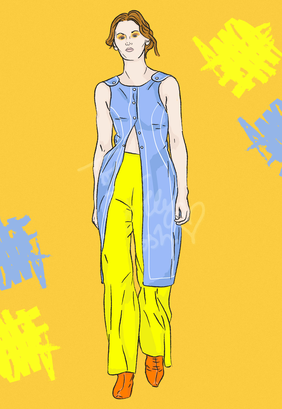 lfw spring summer 2017 richard malone fashion illustrations