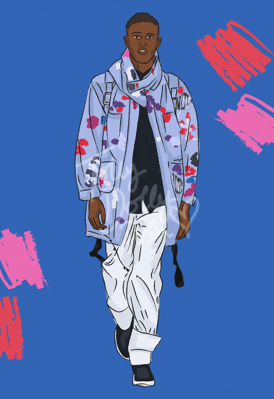 LFW Spring Summer 2017 Teatum Jones Illustrations
