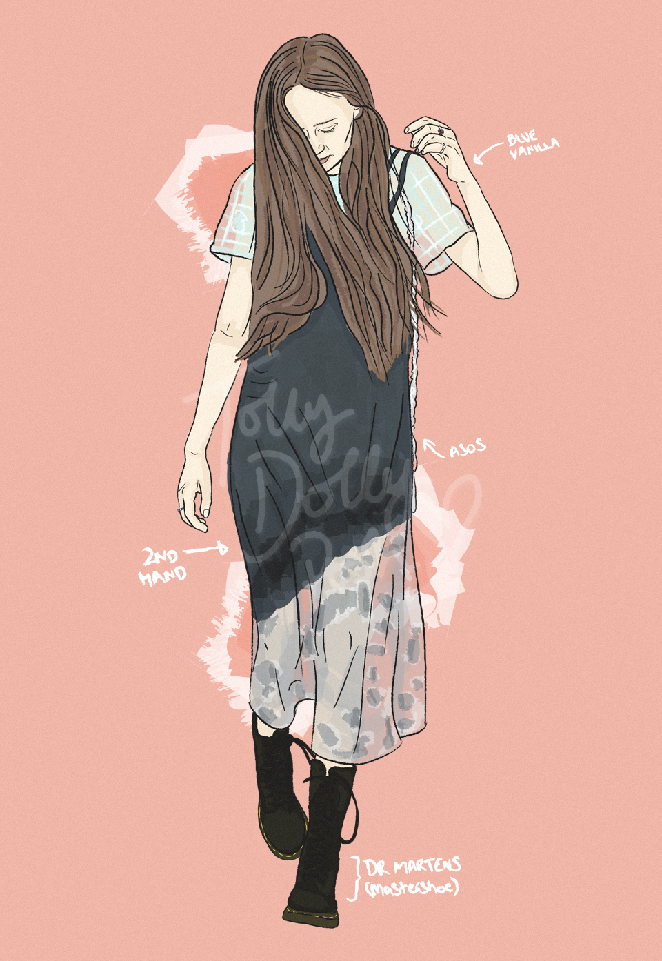 fashion outfit illustrations - second-hand ethical fashion blog