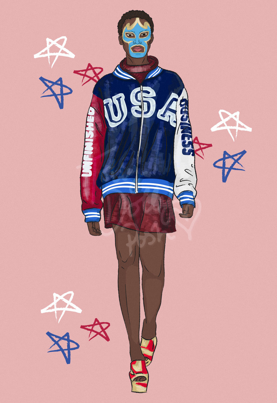 lfw autumn winter 2017 fashion collection illustrations - ASHISH