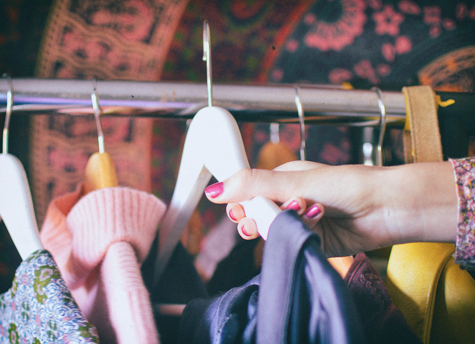 creating a sustainable wardrobe - second hand fashion