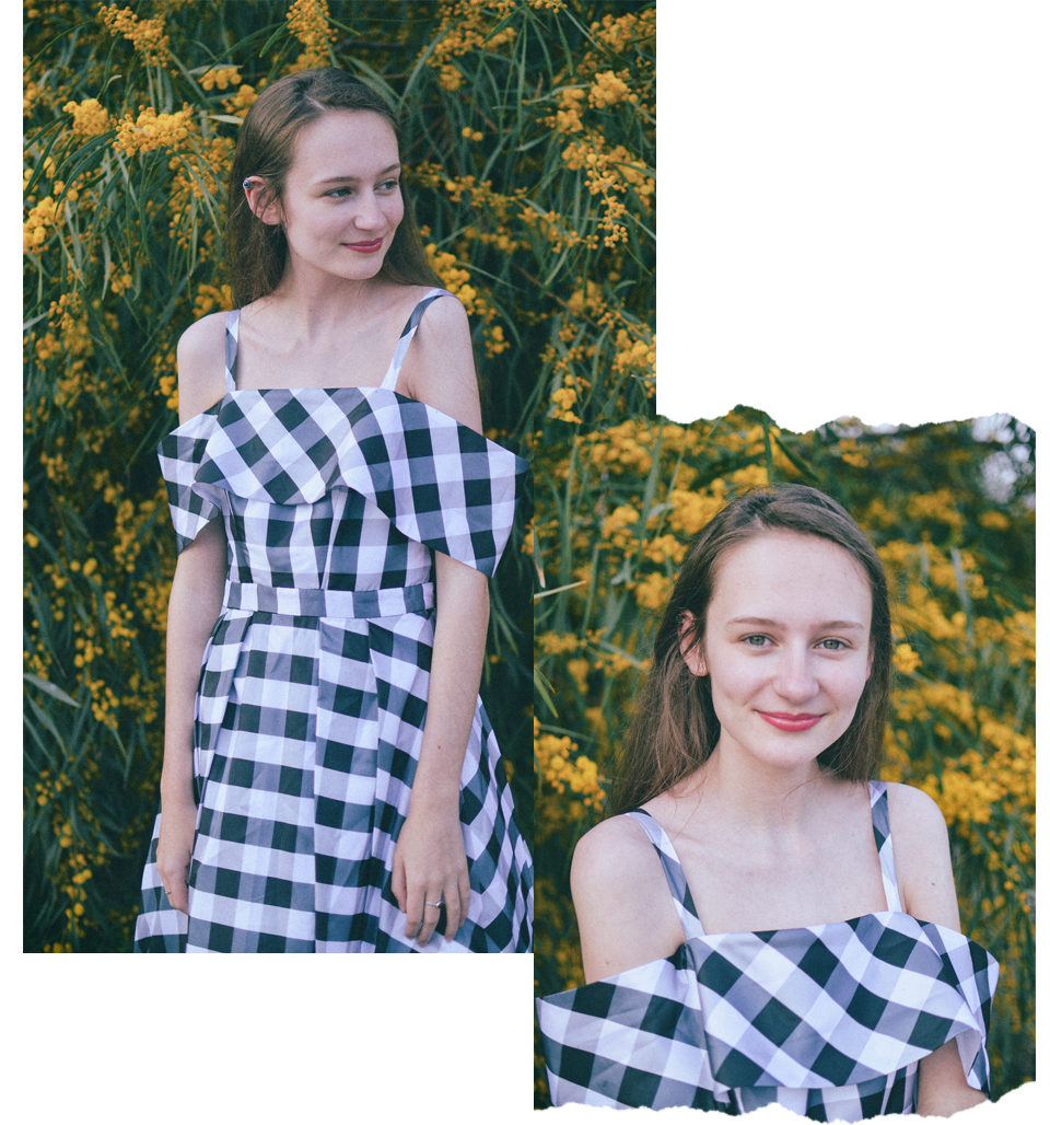 tolly dolly posh ethical fashion blogger - fame & partner zenith dress