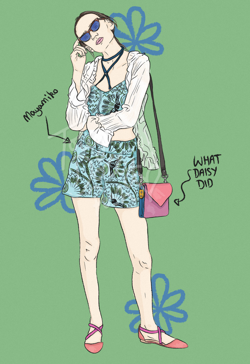Ethical & Sustainable Outfit Ideas - Fashion Illustrations